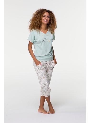 Clap Clap Kadın Penye Midi Pijama Takımı-Hays